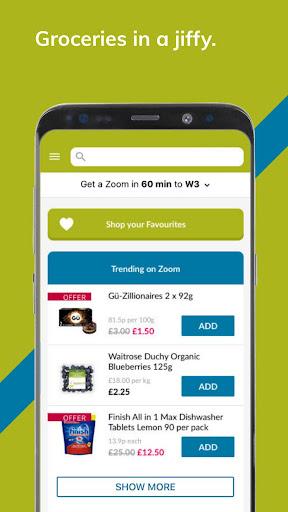 Ocado Zoom grocery delivery screenshot 1