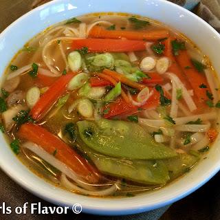 Thai Ginger Vegetable Noodle Soup.