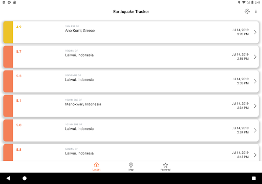Earthquake Tracker - Latest quakes, Alerts & Map 3.0.1 screenshots 7
