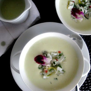 Cucumber and Yogurt Soup with Lobster Tail SaladPrint