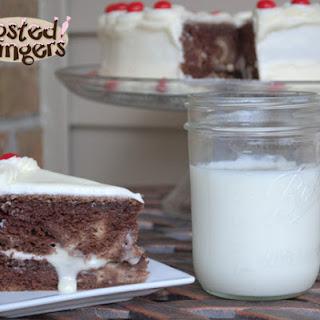 Cheesecake Swirled Devil's Food Cake