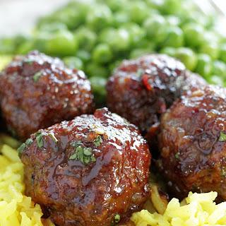 Asian Maple Sausage Meatballs.