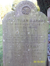 Photo: 21-Jonathan Barnes, died June 27th 1873, aged 54 yearsMary, wife of above, died November 12th 1891, aged 72 years