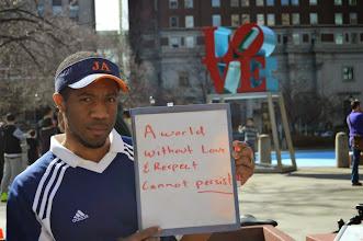 Photo: 4.12.15 Street action in LOVE park, Philadelphia, PA via FAAN Mail