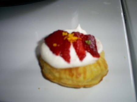 Orange and Strawberry Cream Puffs Recipe