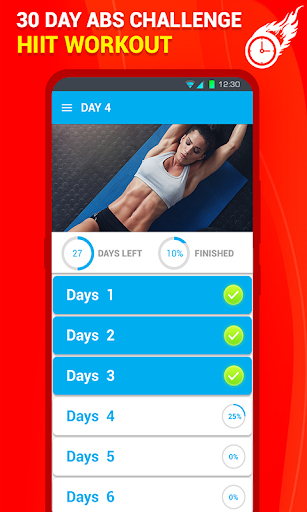Six Pack Abs Workout 30 Day Fitness: HIIT Workouts 39.0 screenshots 6