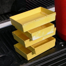 Photo: stack o' yellow pan traps