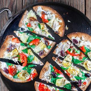 15-Minute Artichoke Garden Flatbread Pizza