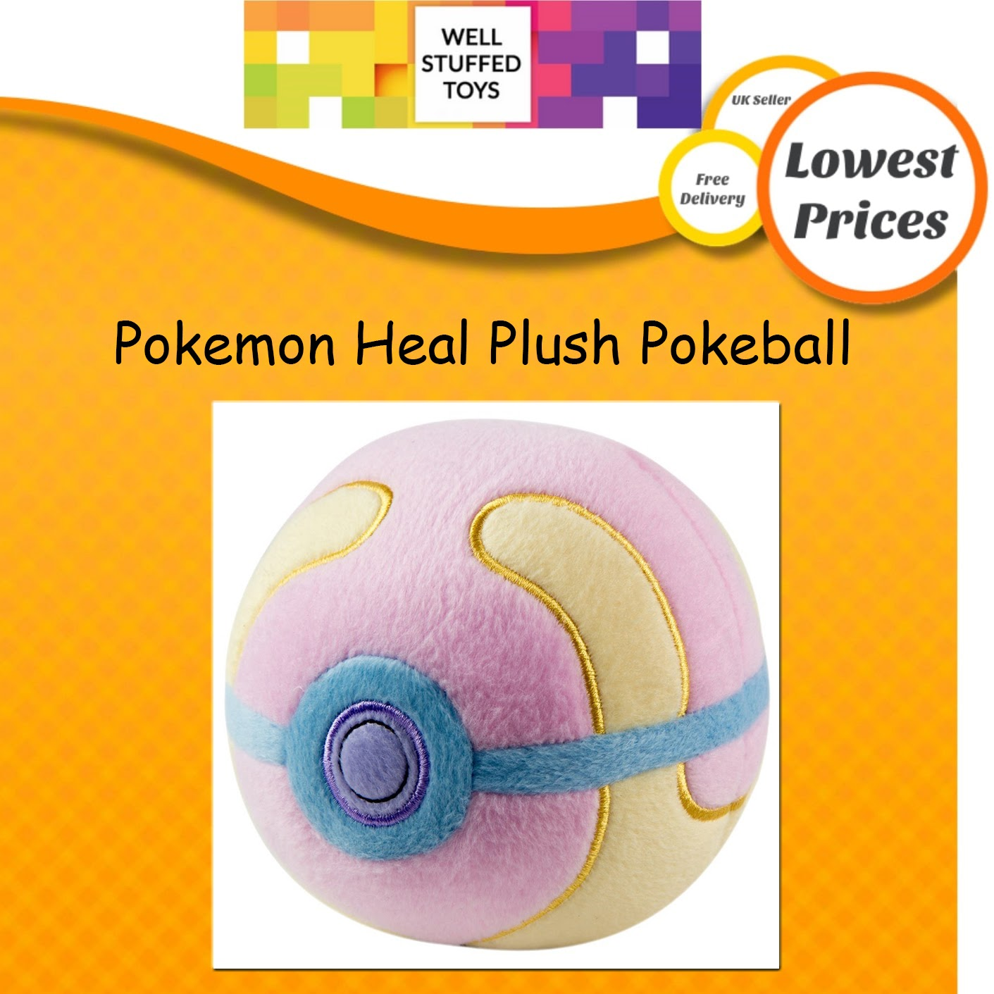 Pokemon T 18852 D 7 HEAL Heal Pokeball plush soft toy