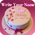 Cake with Name wishes icon