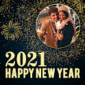 New year photo frame 2021, new year photo editor icon