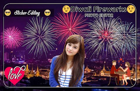 Diwali Fireworks Photo Editor - náhled