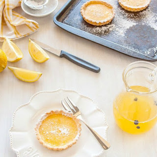 Gin and Tonic Tarts - lemon tarts with gin and tonic syrup