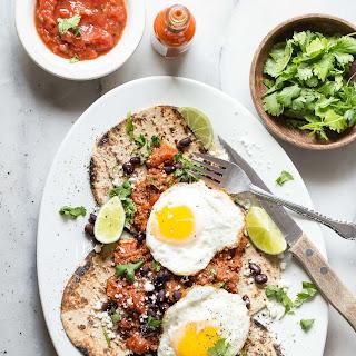 Huevos Rancheros with Spicy Tomato Chorizo