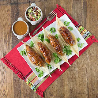 Chipotle Stuffed Chicken Tamales