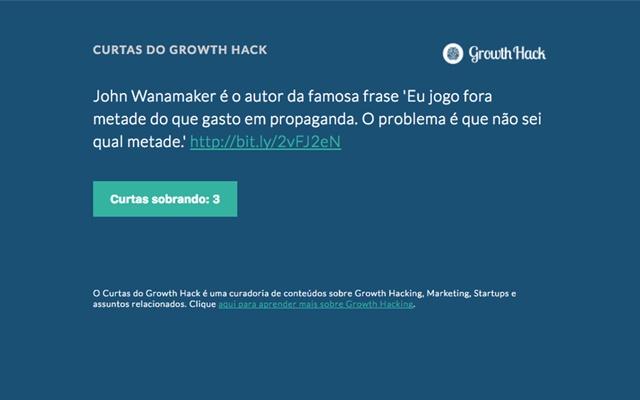 Curtas do Growth Hack