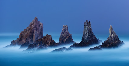 Photo: Shot of the Day - Solid Air - The ragged coast of Asturias is a continuation of the Costa Da Morte, the Coast of Death. Countless ships crashed to their end on these rocks. An amazing place to spend a moonlit night....
