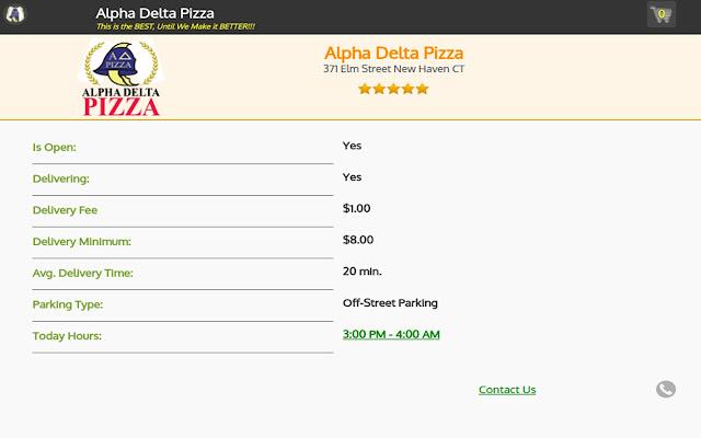 Alpha Delta Pizza