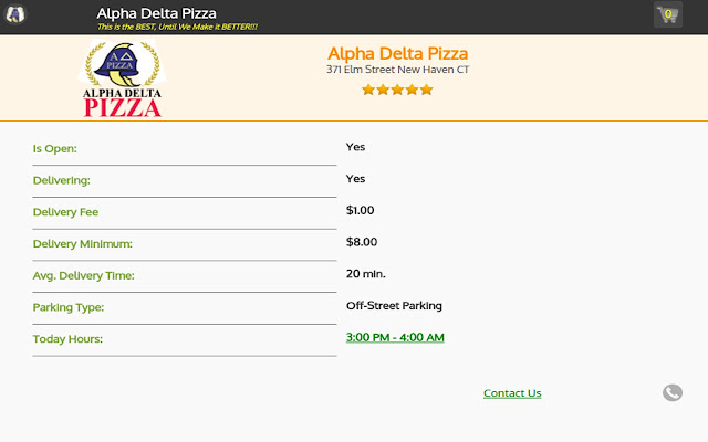 Alpha Delta Pizza