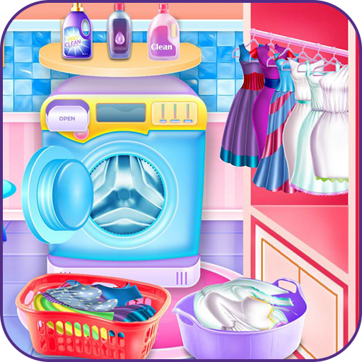 Washing clothes and ironing game Icon