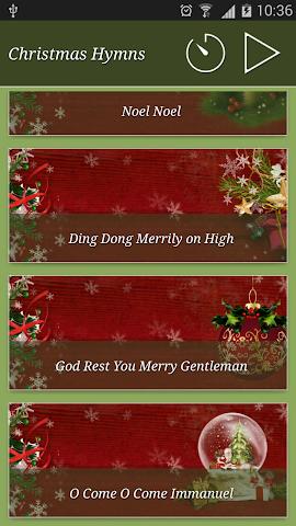 android Christmas Hymns Holiday Themes Screenshot 1