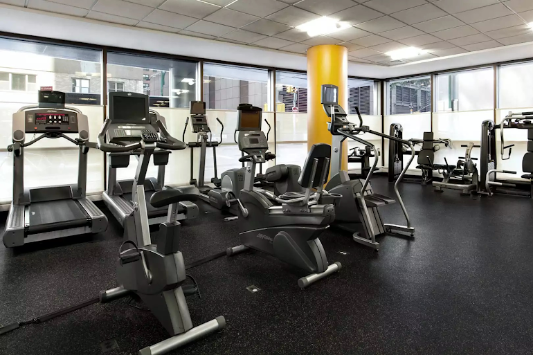 Gym at Midtown East apartment