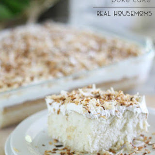 Toasted Coconut Poke Cake.