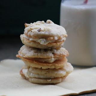 Vanilla Buttercream Filled Walnut Cookies