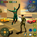 Panther Superhero Crime City Rescue Battleground