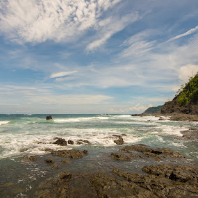 Jaco Rocks by James Woodward - Landscapes Caves & Formations ( sky, jaco, beach, costa rica, tokina )