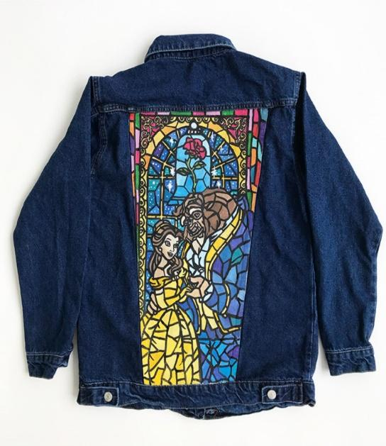 El boyaması kot ceket