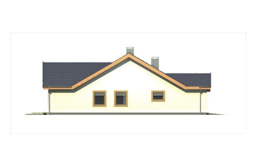 Ambrozja 2 wersja A parterowa z pojedynczym garażem - Elewacja lewa
