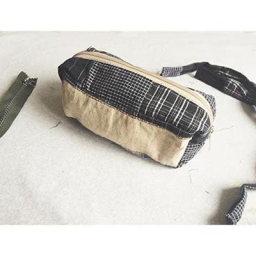 實用袋系列👝 🔲格仔併布🔳 可用作化妝袋丶筆袋丶收納袋 Whatsapp 📞: 96265492 #AC小手作  #實用袋 #handmade #hkmade #bag