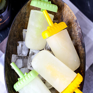 Lemon And Cava Popsicles.