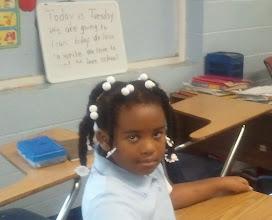 Photo: Kaleya - at her new school