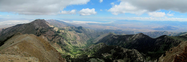 Panorama from the Deseret Peak summit