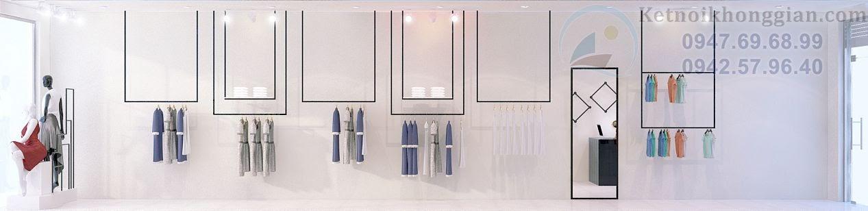 cách thiết kế shop quần áo thời trang hợp lý tinh tế