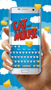 Cat & Mouse Cartoon Keyboard Theme - náhled