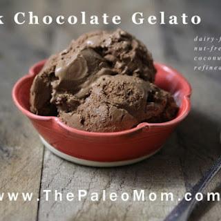 Dark Chocolate Gelato (dairy-free, nut-free, coconut-free).