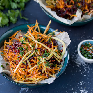Vegetable Matchstick Fries with Homemade Herb Salt.