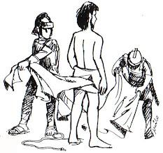 Photo: jesús despojado vestiduras