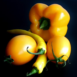 HEALTHY VEGETABLES by Wojtylak Maria - Food & Drink Fruits & Vegetables ( tomatoes, healthy, yellow peppers, vegetables, food,  )