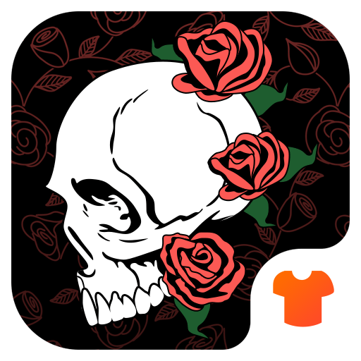 Red Rose Theme - Skull Wallpapers & Icon Pack Icon