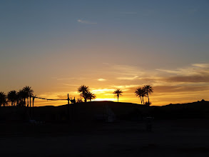 Photo: Sunset over the sanddunes