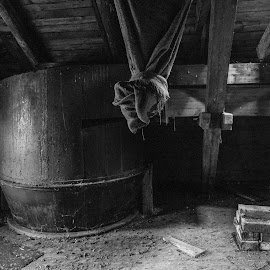 In the old mill by Klaus Müller - Black & White Objects & Still Life ( black and white, abandoned,  )