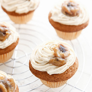 Bananas Foster Brown Sugar Cupcakes.