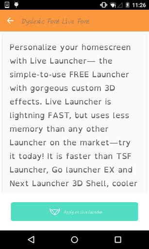 Dyslexic font - Live Launcher
