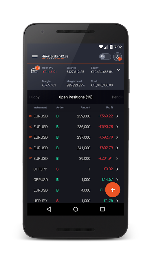 direktbroker-FX SIRIX Mobile – Screenshot