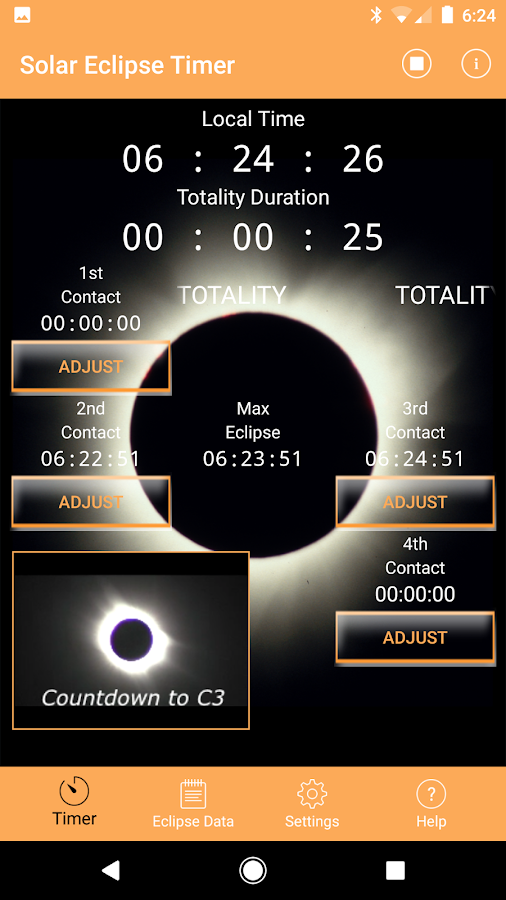 Solar Eclipse Timer- screenshot