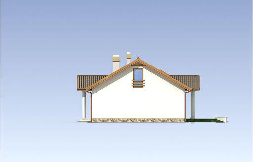 Madzia wersja B z pojedynczym garażem - Elewacja prawa